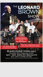 The Leonard Brown Show @ Blairgowrie Town Hall